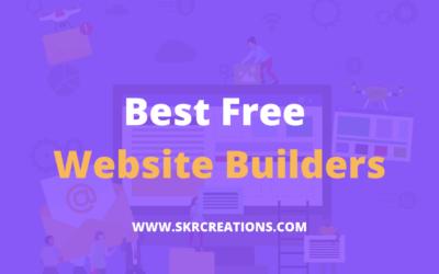 Top 10 best free website builders 2020